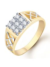 Sukkhi Gold and Rhodium Plated CZ Ring for Men(116GRK420) (116GRK420), 18