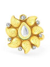 Sukkhi Sleek Gold Plated Kundan ToeRing For Women (24011TRKDP350)