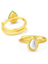 Sukkhi Resplendent Gold Plated Kundan ToeRing For Women (24017TRKDP350_ Sukk)