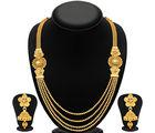 Sukkhi Stylish Jalebi 4 String Gold Plated Necklace Set For Women (3250NGLDPKN1000)