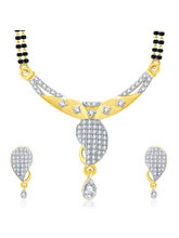 Sukkhi Joyous Gold And Rhodium Plated CZ Mangalasutra Set For Women (14132MSCZF1800)