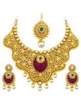 Sukkhi Traditionally Invisible Setting Gold Plated...
