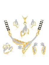 Sukkhi Royal Gold & Rhodium Plated CZ Combo (128CB2050), 13