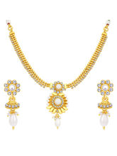 Sukkhi Divine Gold Plated Necklace Set For Women (...