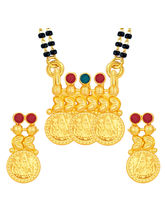 Sukkhi Traditionally Laxmi Temple Coin Gold Plated Mangalsutra Set For Women (14221MSGLDPD400)