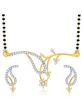 Sukkhi Exotic Gold and Rhodium Plated CZ Mangalsutra Set (14072MSCZR1400)