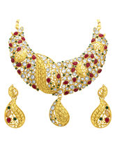Sukkhi Luxurious Gold Plated AD Necklace Set For W...