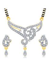 Sukkhi Artistically Gold Plated CZ Mangalsutra Set For Women (14225MSCZL750)