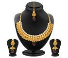 Sukkhi Divine Jalebi Design Gold Plated Necklace Set For Women (2544NGLDPP2750)