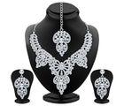 Sukkhi Marvellous Rhodium Plated AD Necklace Set (2304NADM1680)