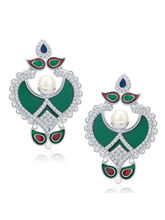 Sukkhi Royal Rhodium Plated AD Earrings For Women ...