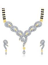 Sukkhi Glamorous Gold And Rhodium Plated CZ Mangalasutra Set For Women (14211MSCZL800)
