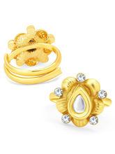 Sukkhi Lavish Gold Plated Kundan ToeRing For Women (24018TRKDP350_ Sukk)