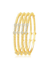 Sukkhi Lavish Gold Plated AD Bangle For Women (32262BADV1250), 2.6