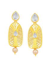 Sukkhi Artistically Gold Plated American Diamond E...