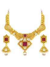 Sukkhi Brilliant Gold Plated American Diamond Neck...