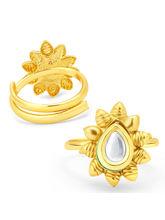 Sukkhi Attractive Gold Plated Kundan ToeRing For Women (24019TRKDP350_ Sukk)