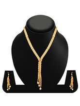 Sukkhi Glittery Gold Plated Necklace Set For Women (2696NGLDPD2350)