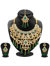 Sukkhi Exotic Gold Plated AD Necklace Set For Wome...