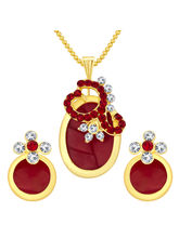 Sukkhi Fancy Gold Plated AD Pendant Set For Women ...