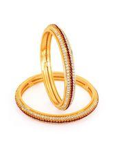 Sukkhi Gold Plated Color Stone Bangles - 1141VB150...