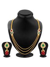 Sukkhi Gorgeous Three Strings Gold Plated Necklace Set (2332NGDLPV1350)