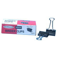 Bambalio Binder Clips 25 mm (Pack of 12Pcs)