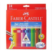 Faber Castell Colour Grip Water Colour Pencil, 24 Shades