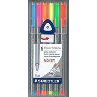 Staedtler Triplus Fineliner Pen - Pack of 6 Neon colors 334 SB 6 CS 3