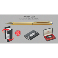 Pierre Cardin Tycoon Dual (Card Holder & Satin Gold Ball Pen)