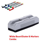 White Board Duster with Holder & White Board Markers Kit, mixed