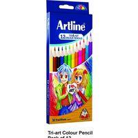 Artline Tri-Art Colour Pencil - 12 Shades