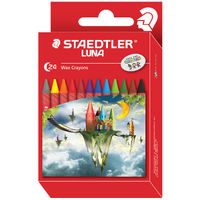 Staedtler Luna Wax Crayons 24 Shades (2200 LC24)