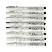 Faber-castell Ecco Pigment Fibre Tip Pen Set (0.1 mm to 0.8mm)