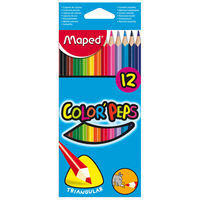 Maped Colour Peps Triangular Shaped Colour Pencils, 12 Shades(Card Board Box)