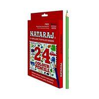 Nataraj Full Size Colour Pencils - 24 Shades