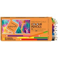 Navneet Youva 2 in 1 Colour Pencil 35010 (Pack of 12/24)