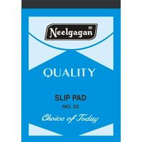 Neelgagan Slip Pad Thick Ruled No. 33 (Pack of 5)