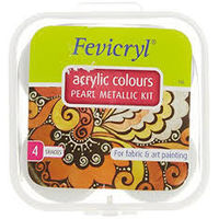 Fevicryl Pearl Metallic Kit Assorted 4 Shades