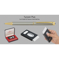 Pierre Cardin Tycoon Plus (Card Holder & Titanium Finish Ball Pen)