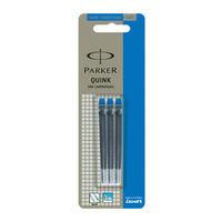 parker Quink Ink Cartridges (Blue, 10 Pcs)