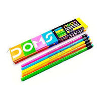 Doms Neon Rubbertip Pencil (Pack of 20)