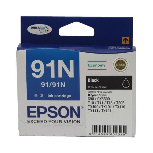 Epson 91N Black Ink Cartridge C13T107190