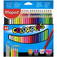 Maped Colour Peps Triangular Shaped Colour Pencils (48 Shades)