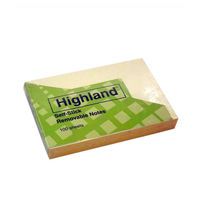 "3M Highland Self Stick Removable Notes, 2"" x3"" , 100 Sheets, Pack of 2"