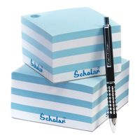 Scholar Blue and White Paper Cubes (Small)