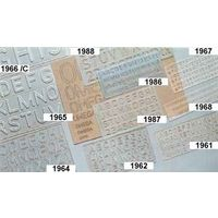 Omega Lettering Stencil Senior (15 MM) (1962) (Pack Of 10)