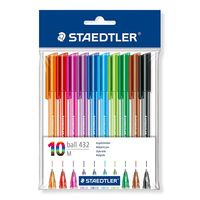 Staedtler Ballpoint Pen (Pack of 10 Colours) 432 35 PB10