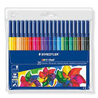 Staedtler Noris Club Fibre Tip Pen 20 Shades (326 WP 20)