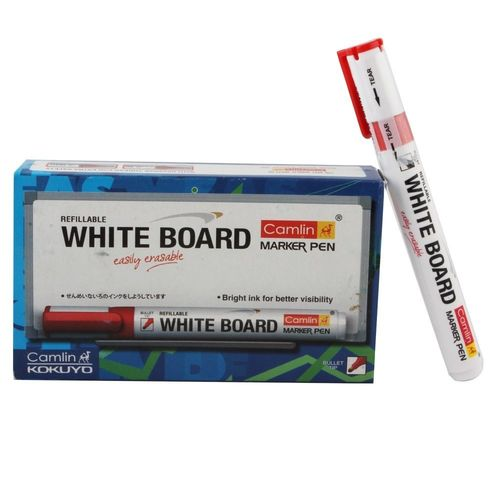 Camlin White Board Marker ( Red) , red, red